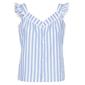 Clothing Women Tops / Blouses Betty London KOUDEI Blue / White