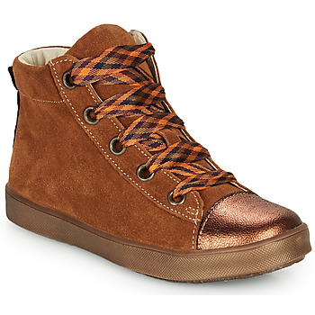 Shoes Girl Hi top trainers GBB OUSTILLE Cognac