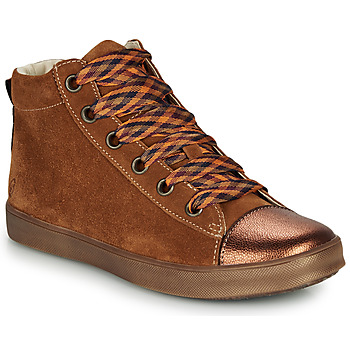 Shoes Girl Hi top trainers GBB OUSTILLE Brown