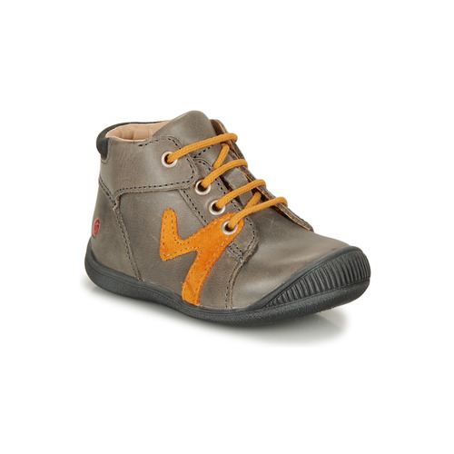 Shoes Boy Mid boots GBB OVELO Grey / Ocre tan
