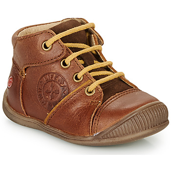 Shoes Boy Mid boots GBB OULOU Brown / Cognac