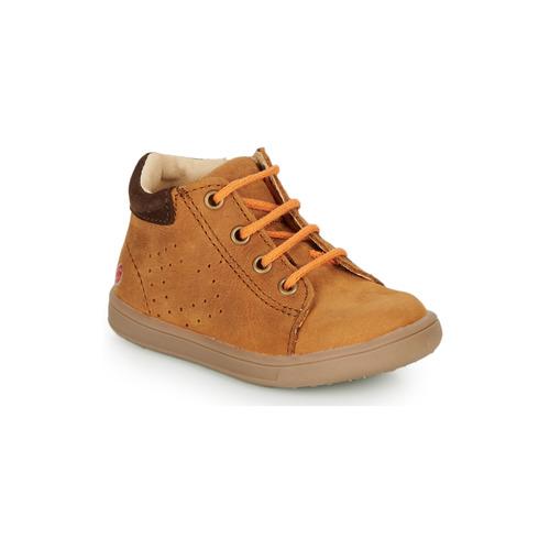 Shoes Boy Hi top trainers GBB FOLLIO Cognac