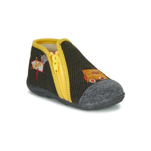 Shoes Boy Slippers GBB OUBIRO Black / Grey