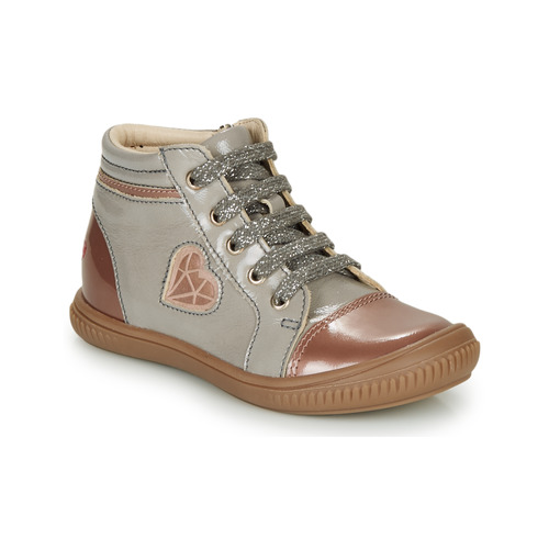 Shoes Girl Hi top trainers GBB OTANA Grey / Pink