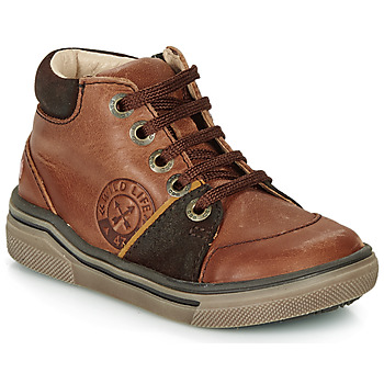 Shoes Boy Hi top trainers GBB OULAN Brown