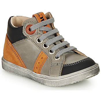 Shoes Boy Hi top trainers GBB ANGELITO Grey / Orange