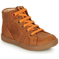 Shoes Boy Hi top trainers GBB ANGELITO Cognac / Orange