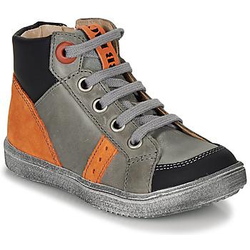 Shoes Boy Hi top trainers GBB ANGELITO Grey / Orange