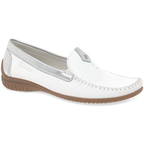 Shoes Women Loafers Gabor California Sporty Womens Moccasins white