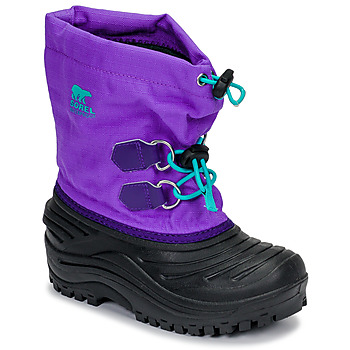Shoes Children Snow boots Sorel CHILDRENS SUPER TROOPER Black / Purple