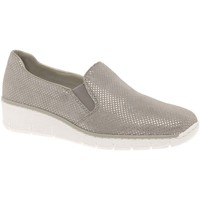 Shoes Women Loafers Rieker Melgar Womens Casual Shoes grey