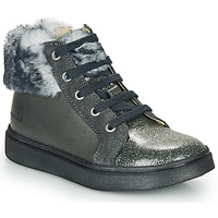 Shoes Girl Hi top trainers Catimini MARCELLE Vts / Grey / Flora