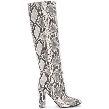 Shoes Women High boots Via Roma 15 python printed leather boots. Animalprint