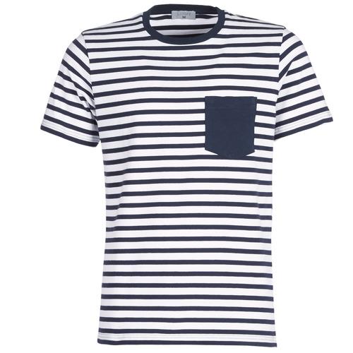 Clothing Men short-sleeved t-shirts Casual Attitude KARALE Marine / White
