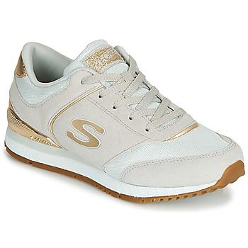 Shoes Women Low top trainers Skechers SUNLITE Grey / Gold