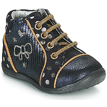 Shoes Girl Mid boots Catimini CARASSIN Marine / Gold