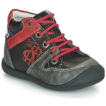 Shoes Boy Mid boots Catimini COMATULE Black / Red