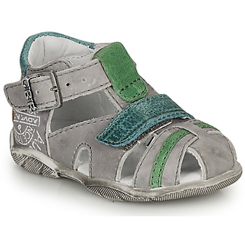 Shoes Boy Sandals GBB MELVIL Grey / Green
