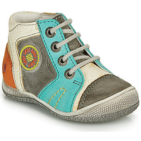 Shoes Boy Mid boots GBB MONTGOMERY Grey / Blue