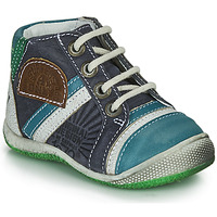 Shoes Boy Mid boots Catimini CIGOGNE Blue / Green
