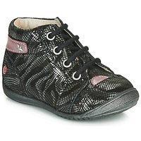 Shoes Girl Mid boots GBB NICOLE Black / Silver