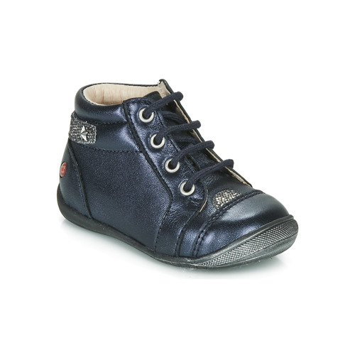 Shoes Girl Mid boots GBB NICOLE Marine / Silver
