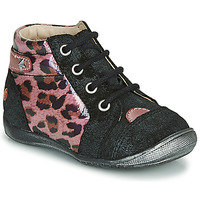 Shoes Girl Mid boots GBB NICOLE Black / Pink