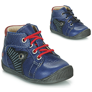 Shoes Boy Mid boots GBB NATALE Blue / Red