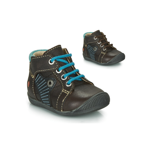 Shoes Boy Mid boots GBB NATALE Brown / Blue