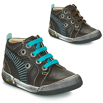 Shoes Boy Hi top trainers GBB NOAH Brown / Blue