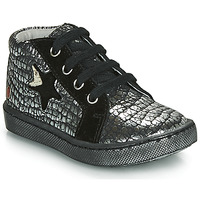 Shoes Girl Hi top trainers GBB LETO Black / Silver
