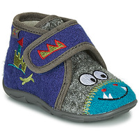 Shoes Boy Slippers GBB NASTRIANO Blue / Grey