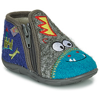 Shoes Boy Slippers GBB NEREO Blue / Grey