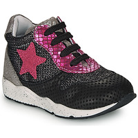 Shoes Girl Low top trainers Ikks KAREN Black