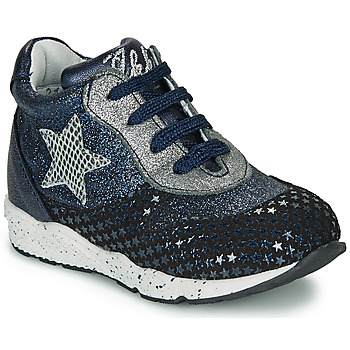 Shoes Girl Low top trainers Ikks KAREN Blue / Silver