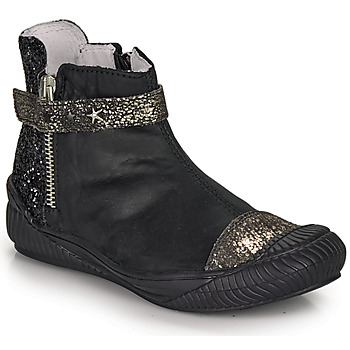 Shoes Girl Mid boots Ikks AMANDA Black