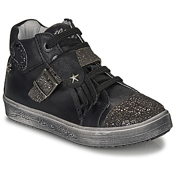 Shoes Girl Hi top trainers Ikks BRENDA Black