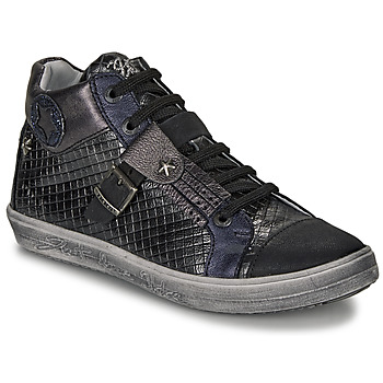 Shoes Girl Hi top trainers Ikks BRENDA Black / Grey / Blue
