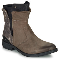 Shoes Girl Mid boots Ikks PAMELA Taupe / Gold