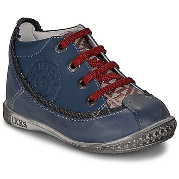Shoes Boy Mid boots Ikks STEVEN Marine / Red