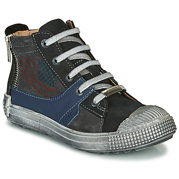 Shoes Boy Hi top trainers Ikks WALTER Anthracite / Blue
