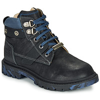 Shoes Boy Mid boots Ikks MICHAEL Black / Blue