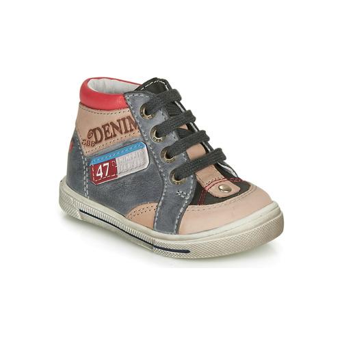 Shoes Boy Hi top trainers GBB PARIS Grey / Beige