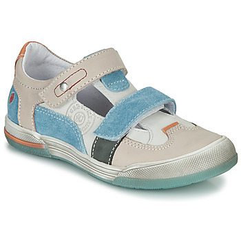 Shoes Boy Sandals GBB PRINCE Ecru / Beige / Blue