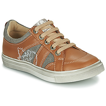 Shoes Boy Low top trainers GBB PALMYRE Cognac