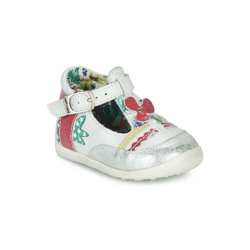 Shoes Girl Sandals Catimini PALOMINO White / Pink
