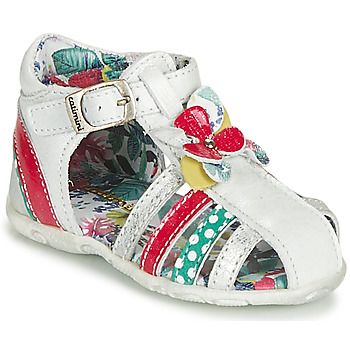 Shoes Girl Sandals Catimini PERSAN White / Multicolour