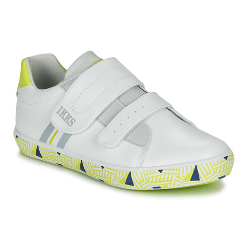 Shoes Boy Low top trainers Ikks JOE White / Yellow