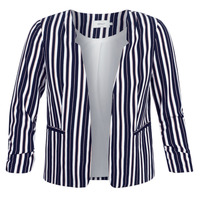 Clothing Women Jackets / Blazers Only ONLPIPER Marine / White