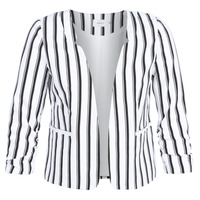 Clothing Women Jackets / Blazers Only ONLPIPER White / Black